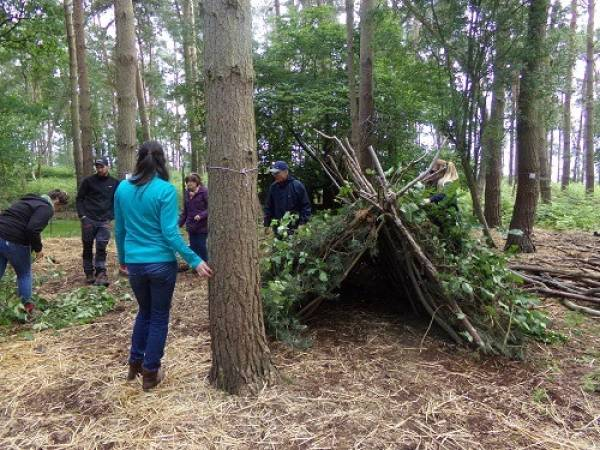 Bushcraft Shelter Build Experience Near York Suitable for Adults Image 3