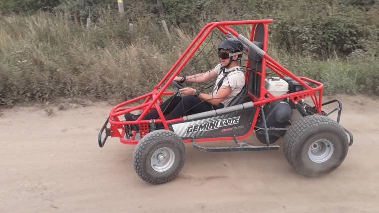 1 hour experience in a single seat off road Dirt Kart Rally Buggy Image 4