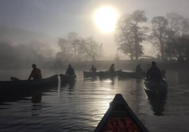 Family Day out Exploring Lake Bala, North Wales in Canoe or Kayak Image 4