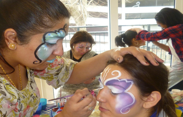 Fantastic one day Glitter and Festival Make Up Course London and Kent Image 4