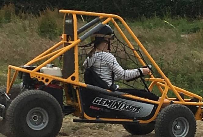 1 hour experience in a single seat off road Dirt Kart Rally Buggy Image 1