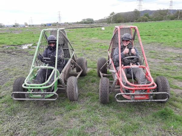 1 hour experience in a single seat off road Dirt Kart Rally Buggy Image 2