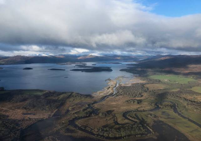30 min Private Helicopter Tour Glasgow & West Coast of Scotland Image 1