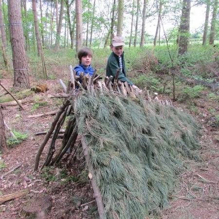 Bushcraft Shelter Build Experience Near York Suitable for Adults Image 2