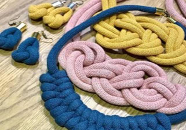 Macramé jewellery making workshop South Wales Image 3