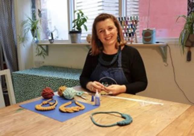 Macramé jewellery making workshop South Wales Image 2
