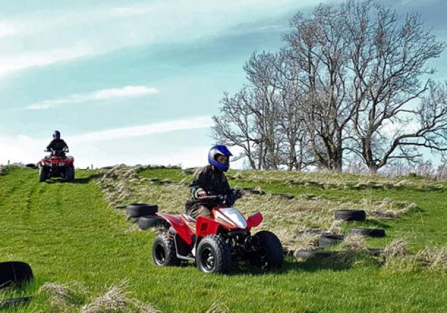 Quad Biking for 10-15 yrs Stirlingshire -1 Hour Outdoor Activities Image 1