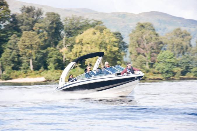 Speedboat Tour on Loch Lomond, The Trossachs for upto 8 People Image 1