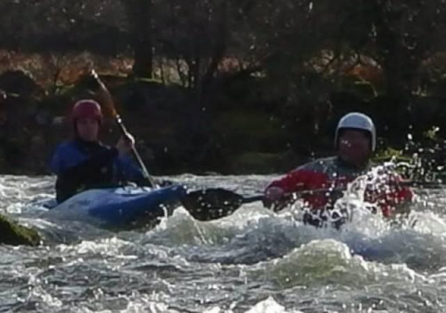 Family Day out Exploring Lake Bala, North Wales in Canoe or Kayak Image 2