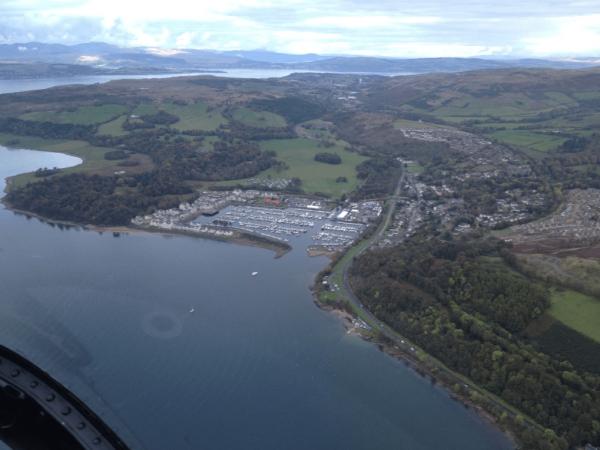 Helicopter tour Forth Bridges Edinburgh St Andrews Scotland Image 3