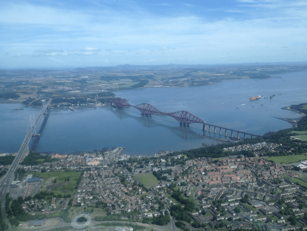 Helicopter tour Forth Bridges Edinburgh St Andrews Scotland Image 2