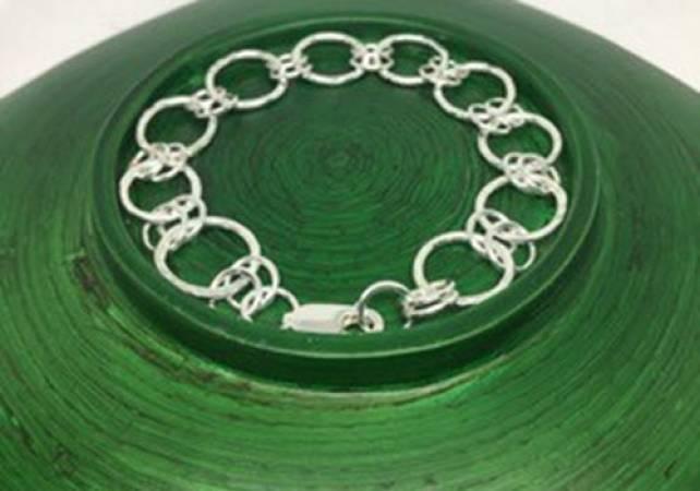 Silver Charm Bracelet workshop in Kent, design and make jewellery Image 1