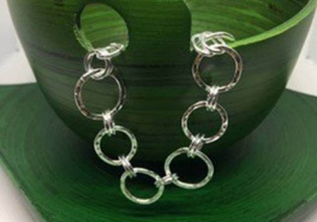 Silver Charm Bracelet workshop in Kent, design and make jewellery Image 6