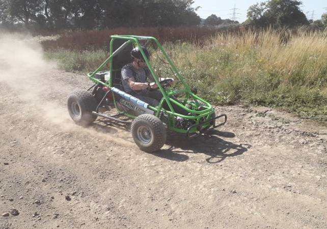 1 hour experience in a single seat off road Dirt Kart Rally Buggy Image 3