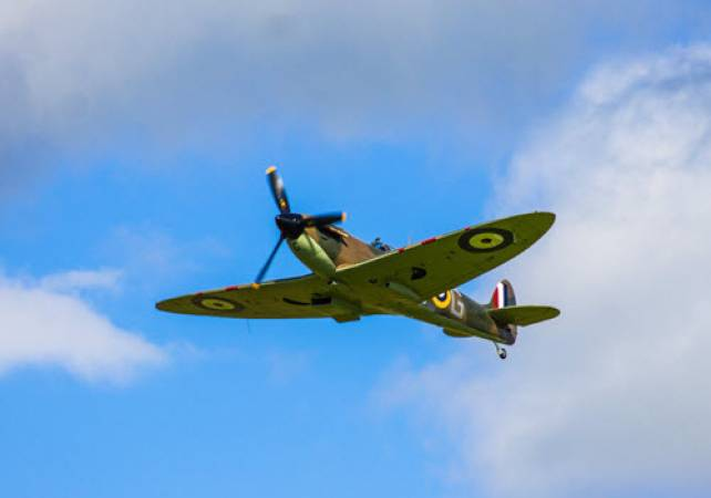 Flight Simulator Spitfire WWII Experience in Newcastle, 8 Years + Image 1