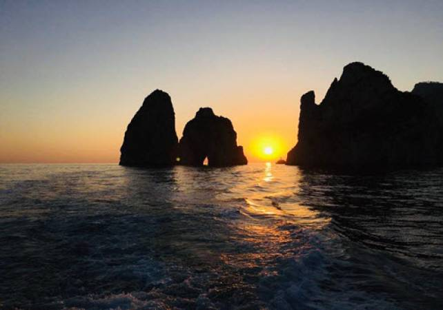 Capri Sunset & 4 Famous Grottos Private Boat Trip  For 1 -10 People Image 1