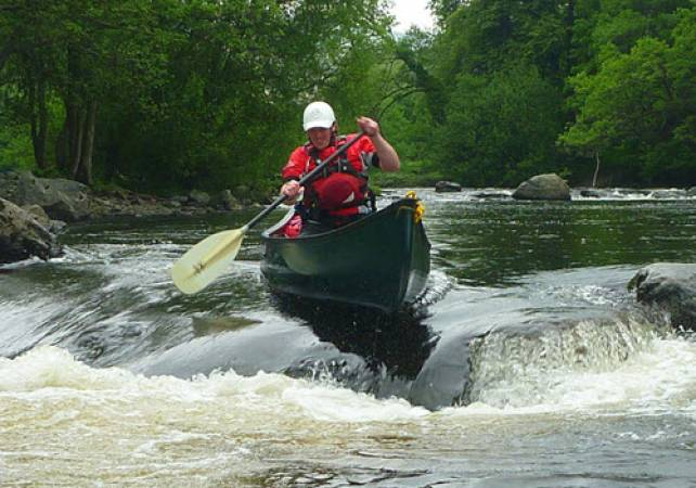 White Water Canoeing in North Wales Full Day on the River Dee Image 1