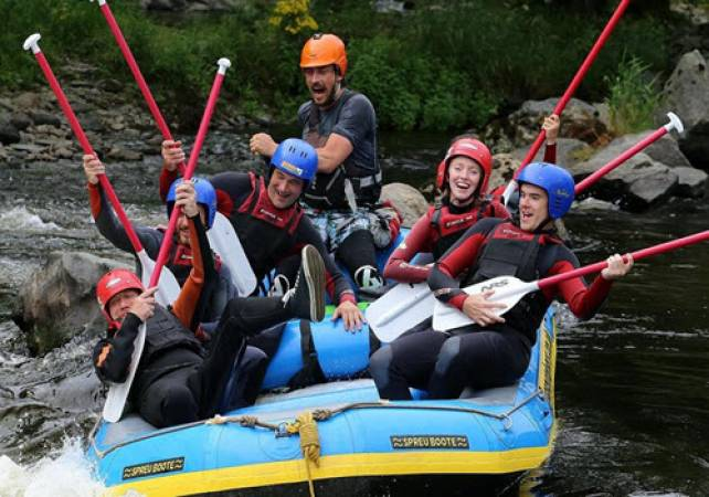 White Water Rafting in North Wales 2.5 Hrs on River Dee Image 2