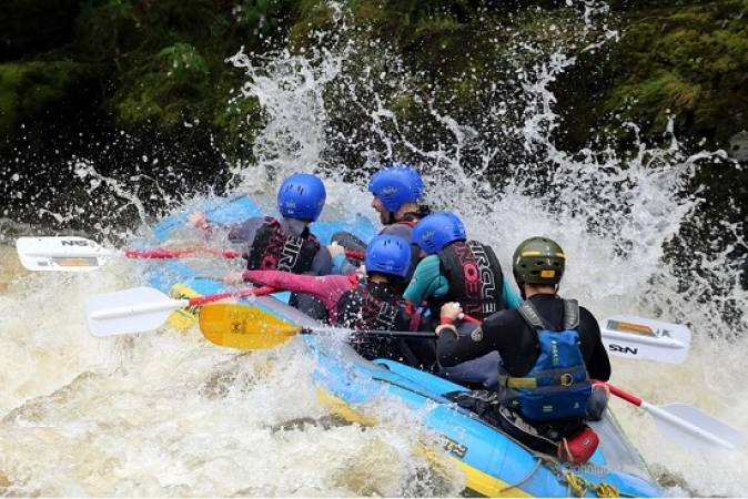 Whitewater Rafting Experience  on a natural river, the River Dee Llangollen Image 1
