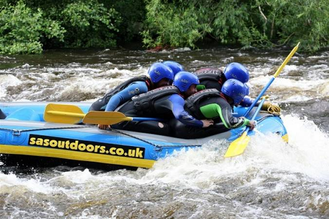 Whitewater Rafting Experience  on a natural river, the River Dee Llangollen Image 2