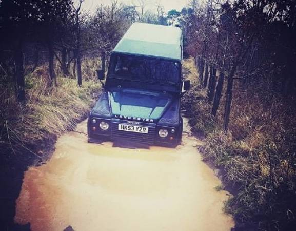 Off Road Driving Experience in Land Rover Defender East Lothian Image 1
