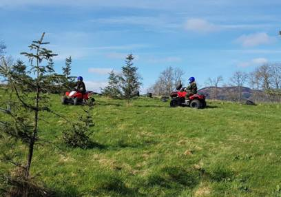 Adult Quad Biking for an Hour Stirlingshire Outdoor Activities
