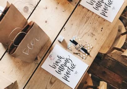 Added Brush Lettering Calligraphy Workshops To Basket