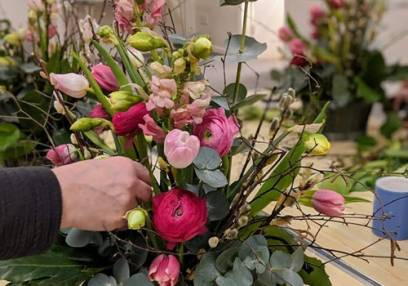 Flower Arranging Classes for Private Groups Northamptonshire Image