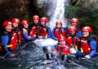 Family Acitvity Day Out Ghyll Scrambling in Lake District For 7 years +