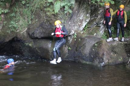 2 hour Gorge Walking Experience  through clear welsh water in Llangollen, North Wales