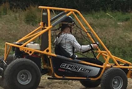 1 hour experience in a single seat off road Dirt Kart Rally Buggy Image