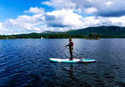 River Paddle Boarding in the Lake Districti for the Family - Over 7yrs + Image