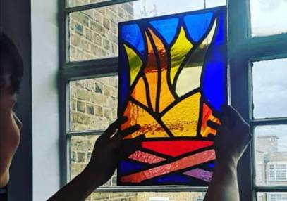 Stained glass workshop for beginners in Brixton, London Image