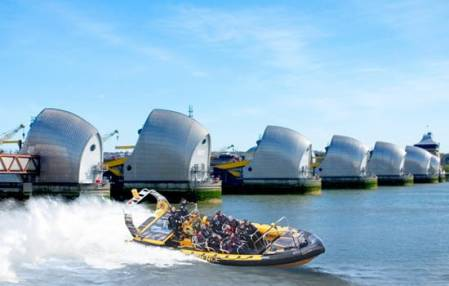 Thames Barrier RIB Experience  - Boating on the Thames London Image