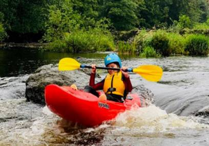 White Water Kayaking in North Wales for 1.5 Hours on the River Dee