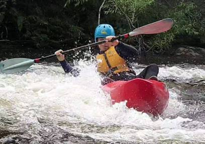 White Water Kayakingin North Wales Half Day on the River Dee