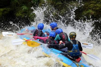 Whitewater Rafting Experience  on a natural river, the River Dee Llangollen Image