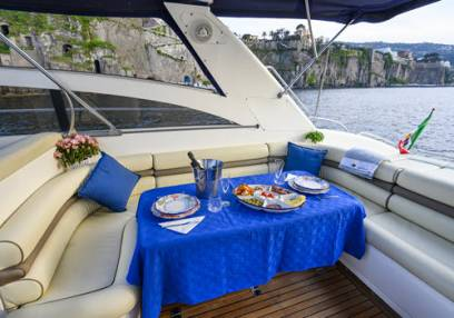 Romantic Dinner on Boat On Italian Coast  For 2 - 4 People
