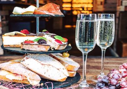 Italian Afternoon Tea for Two with Prosecco  - at various UK Locations Image
