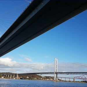 Three bridges over Firth of Forth