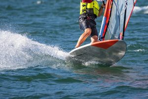 Windsurfer on the water
