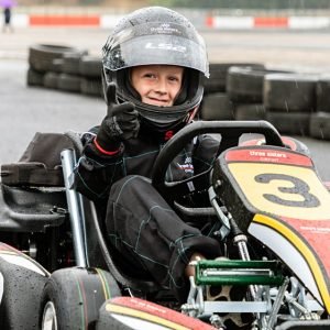 boy enjoying go kart experience in Cheshire