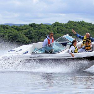 Speedboat tour on Loch Lomond