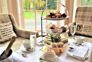 Scones & Champagne afternoon tea carberry tower Edinburgh