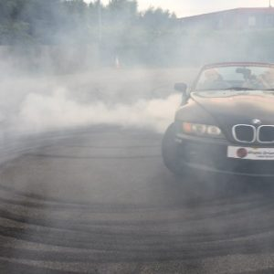 BMW stunt driving hand brake turn