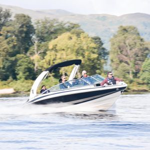 Loch Lomond Speedboat with passengers