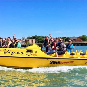 people on a Thrill seeker boat in Southampton