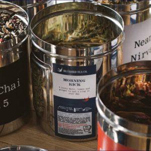 tins of tea leaves