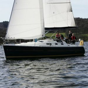 yacht on Lake Windermere Cumbria