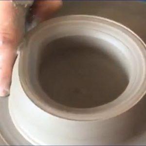 Pot on a pottery wheel